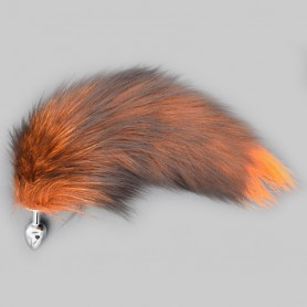 Fox Tail Anal Plug Metal Stain Steel Butt Plug V1 DSBAD-042