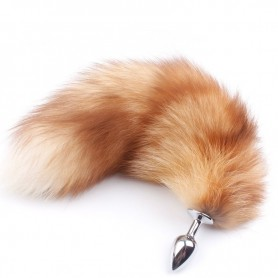 Real Gold Fox Tail Anal Plug DSBAD-002