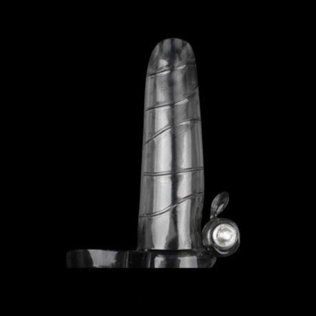 Super Soft Silicone Vibrating Penis Sleeve v1 DSBPES-033