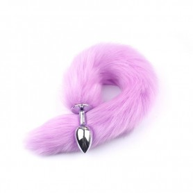 Faux Fox Tail Anal Plug Stainless Steel Butt Plug DSBAD-008