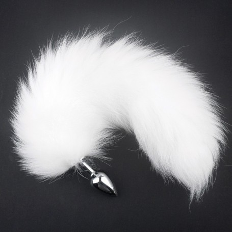White Fox Tail Anal Plug Tail Butt Plug  Sex Toy DSBAD-024
